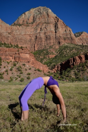 Wheel pose, Zion National Park
