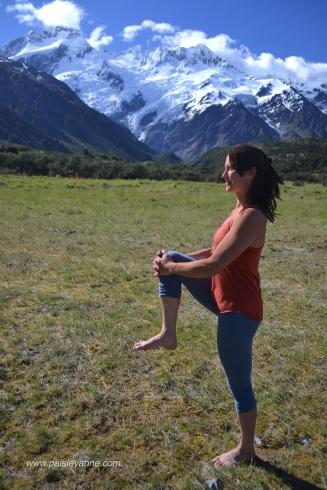 Utthita Hasta Padangusthasana :: Mt. Cook, New Zealand