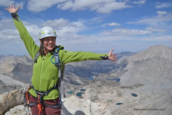 Last year on the summit of Bear Creek Spire.