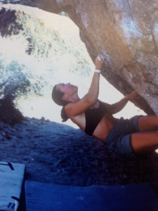 "Circa '97 on a hard, low boulder problem called ""Groundwater"""
